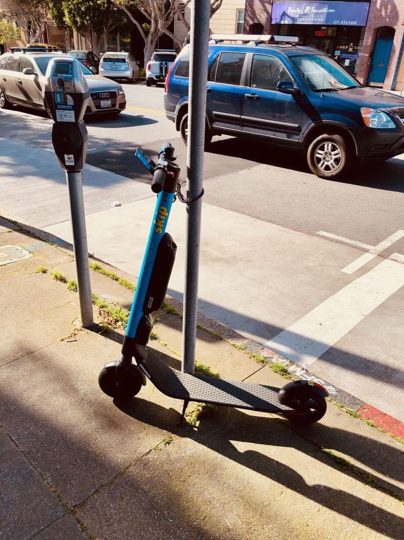 Google Cloud Next 2019 - ganz SF ist voller Scooter