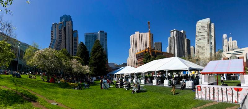 Google Cloud Next 2019 - Mittagspause im Yerba Buena Gardens